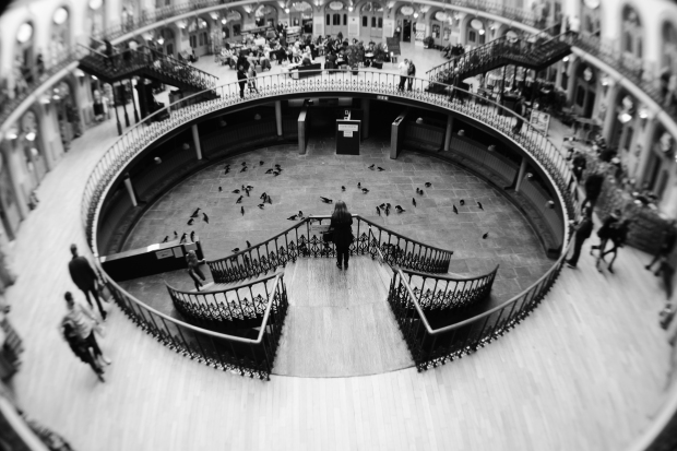 Leeds Corn Exchange shot with a 0.21x fisheye adapter on a 35mm lens and D5300 body