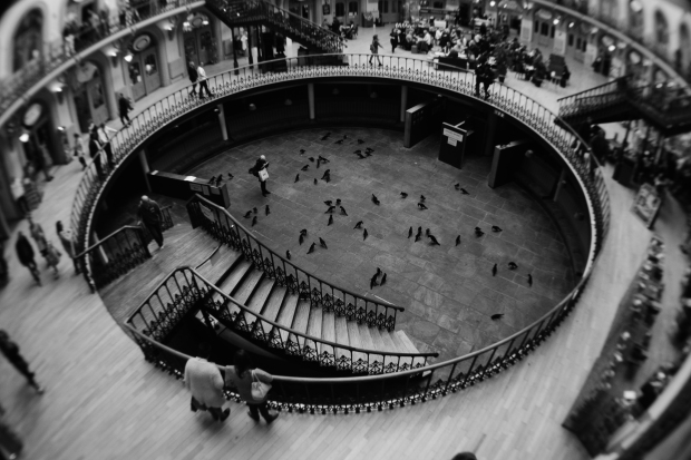 Photo of Leeds Corn Exchange using Fisheye lens