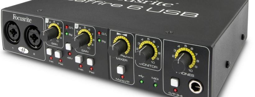 Focusrite Saffire 6 USB Audio Interface Noise Issue